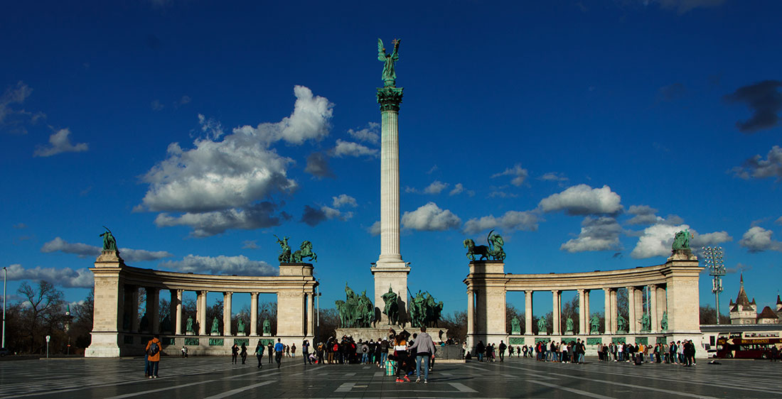 Budapest Heroes square free stock photo