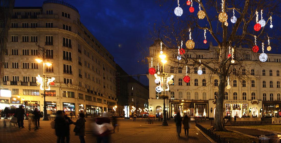Budapest Vorosmarty square free stock photo