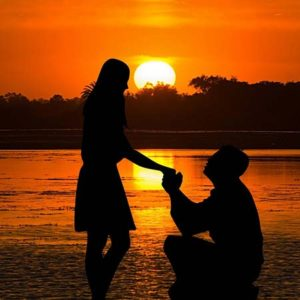 Rent a boat for a proposal