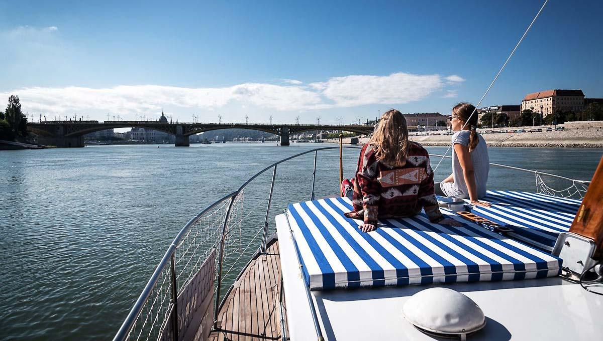 Thetis boat sunbathing